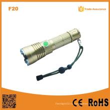 F20 Лучший мощный светодиодный Военный Тактический перезаряжаемый Xml LED Swat Фонарик