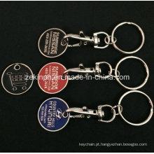Personalizado de ferro esmalte macio trole moeda chaveiros para promoção de carros de marca
