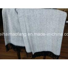 Manta de algodón puro en espiga tejida ()