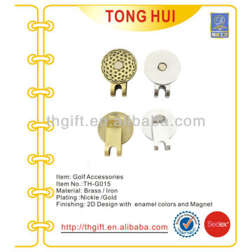 Metal blank hat clip with plating