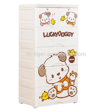 Armário de armazenamento da gaveta da Multi-camada Armário de armazenamento diferente da gaveta dos PP das crianças novas