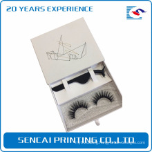China mainland low cost custom printing lavishness clear window packaging eyelash box