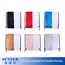Hot Model Customized Sublimation Magic Sequins Drawstring Bag Fashion Camping Backpack Bag