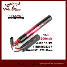 Taktische Airsoft 11.1V-1500 LiFePO4 LFP-Batterie 15 c
