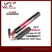 Tactical Airsoft 11.1V-1500 LiFePO4 LFP Battery 15c