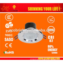 CE calidad 12v 3W COB LED downlights