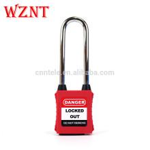 Fabricant de cadenas de sécurité à clé étanche à la poussière de 76mm avec la clé principale