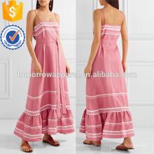 Розовый кружево подстриженные постельное белье Макси платье OEM и ODM Производство Оптовая продажа женской одежды (TA7121D)