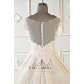Alibaba sleeveless beaded luxury wedding dress