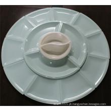 Jogo de mesa colorido da melamina cerâmica de imitação (CP-047)