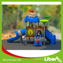 2015 Liben Upcoming New Design Kindergarten Outdoor Playground Plasic Slides for Kids, Cheap Playground Equipment Plastic Slides