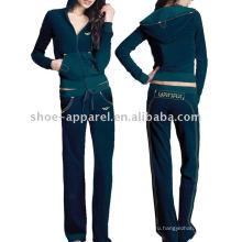топ мода женщины велюр костюмы