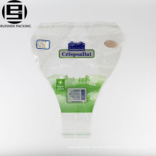 Plastic flower packing bags bopp material with printing