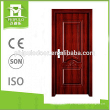 Excelente diseño de puerta de entrada de melamina resistente al desgaste.