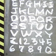 Wärmeübertragung reflektierende Buchstaben
