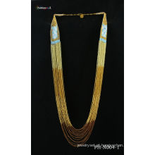 Semente natural do grânulo artesanal moda colar
