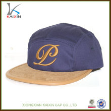 Design Your Own Custom Organic Cotton Embroidery 5 Panel Hats Wholesale