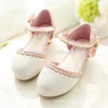 Neue 2015 Frühlings-Kind-nette flache Schuhe Mädchen-Prinzessin-Schuhe mit Bogen-Kind-PU-lederne einzelne Schuhe