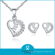 Handmade Girl′s 925 Sterling Silver Jewelry Set with CZ (J-0078)