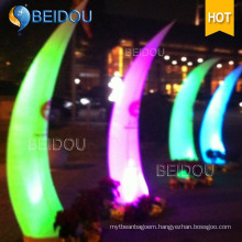 Decoration Lighted Inflatable Cones Ivory Tusk LED Column Arch Tube