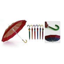 Parapluie coupe-vent à bordure automatique en fibre de verre, 12 nervures (YS-SM25123512R)