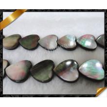 Abalone Paula Shell perla suelta, cuentas de corazón (APS019)