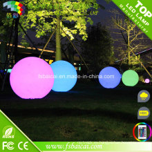 Bola impermeable LED de superficie de escarcha para jardín, piscina