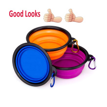 Portable Collapsible Foldable Waterproof 1000mL Canvas Dog Bowl