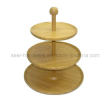 Three Layer Ornament Bamboo Snack Plate (SE060)