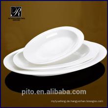 PT-1357 Keramik tiefe ovale Schale Platte