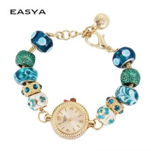 2015 Fashion Metal Beaded Bracelet Wrist Watches For Girls New Design Watch