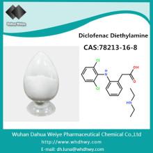 CAS: 24916-90-3 hochreines Kortikosteroidpulver Antiinflammation Diclofenac Diethylamin