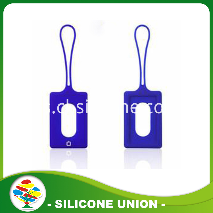 Blue silicone luggage tag