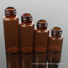 Disposable Amber Screwed Glass Bottle with Dropper