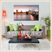 Arte de la impresión de la lona de Londres Big Ben Digital para la decoración de la pared