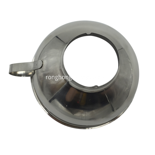 Stainless Steel Jam Funnel With Handle Wide Mouth 3