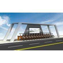 Moderno refugio para bicicletas