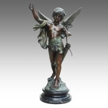 Grande Figure Statue Cupidon Décoration Bronze Sculpture Tpls-030 (J)