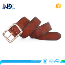 Men casual cowhide leather belt alloy buckle belt