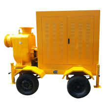 Trailer Mounted Diesel Engine Mobile Working Trash Pump