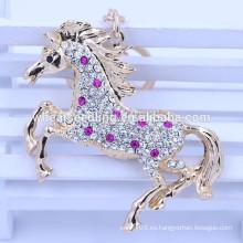 2015 llavero de encargo promocional del llavero / del metal del caballo