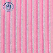 100% coton tissu à tricoter rayé teint en fil de coton