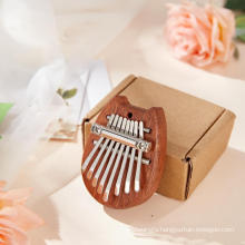 2021 heart shape music instrument mini kalimba wedding souvenirs ramadan cheap gifts set