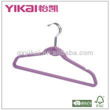Founctioanl ABS Rubber Coated hanger avec crochet et encoches