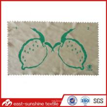 Tissu de nettoyage de lunettes de soleil en microfibres avec image personnalisée imprimée