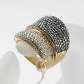 newest ring flower rhinestone finger ring set punk ring for girls wholesale