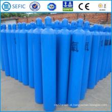 Cilindro de gás usado industrial sem emenda de alta pressão do oxigênio 40L (ISO9809-3)