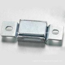 Plaque métallique combinée à aimant rectangle avec des ailes