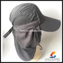 Nuevo Deportes al aire libre Senderismo Camping Uv protección dama sol Sombrero Gorra Mascarilla de secado rápido pescador ajustable pesca sombrero