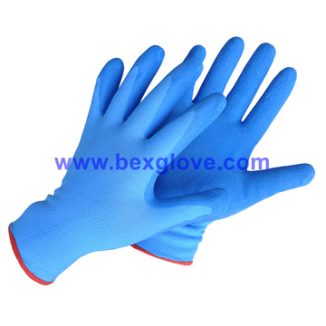 13 Gauge Nylon Liner, Latex Coating, Crinkle Finish Glove